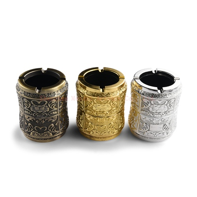 Three color tin can type ashtray