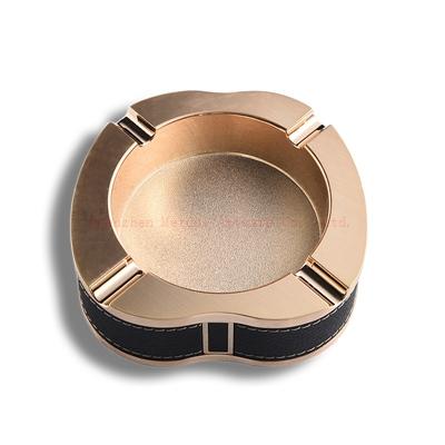 Gold metal ashtray