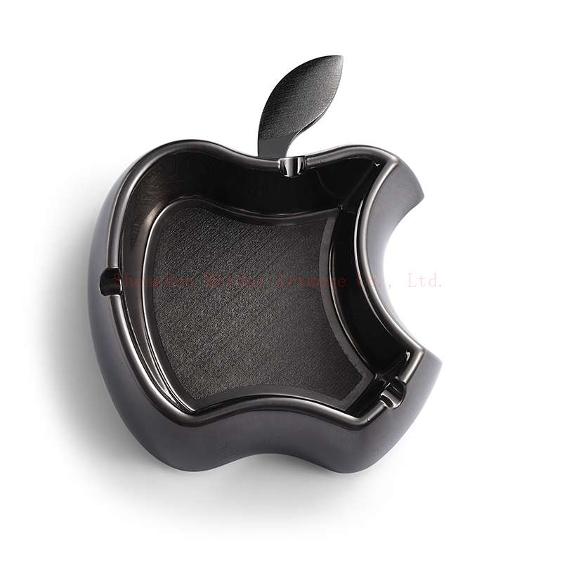 Apple metal ashtray