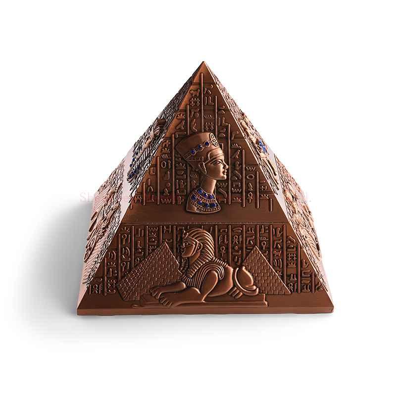 Pyramid metal ashtray