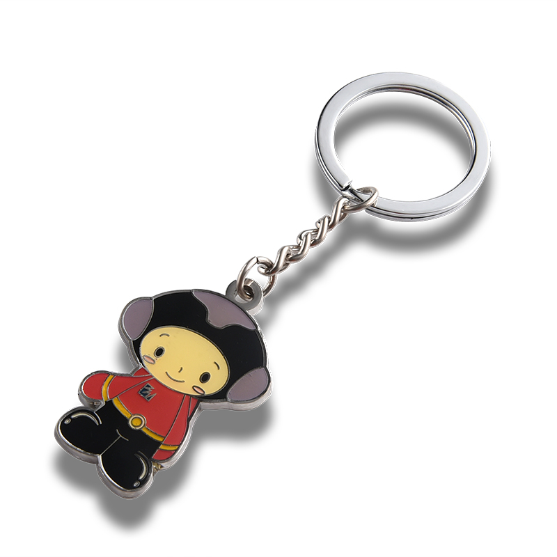 Cartoon metal keychain